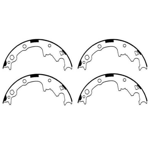 OMIX-ADA 16726.17 Brake Shoes for 90-98 Jeep Wrangler YJ