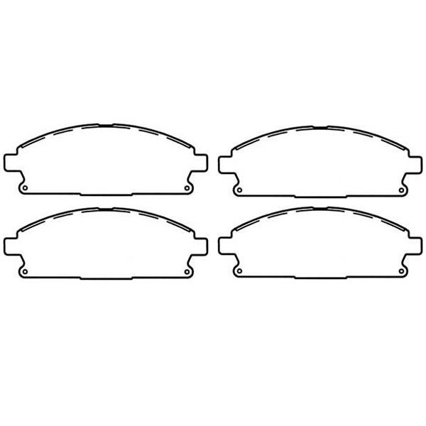 OMIX-ADA 16729.09 Rear Disc Brake Pad Set for 99-04 Jeep