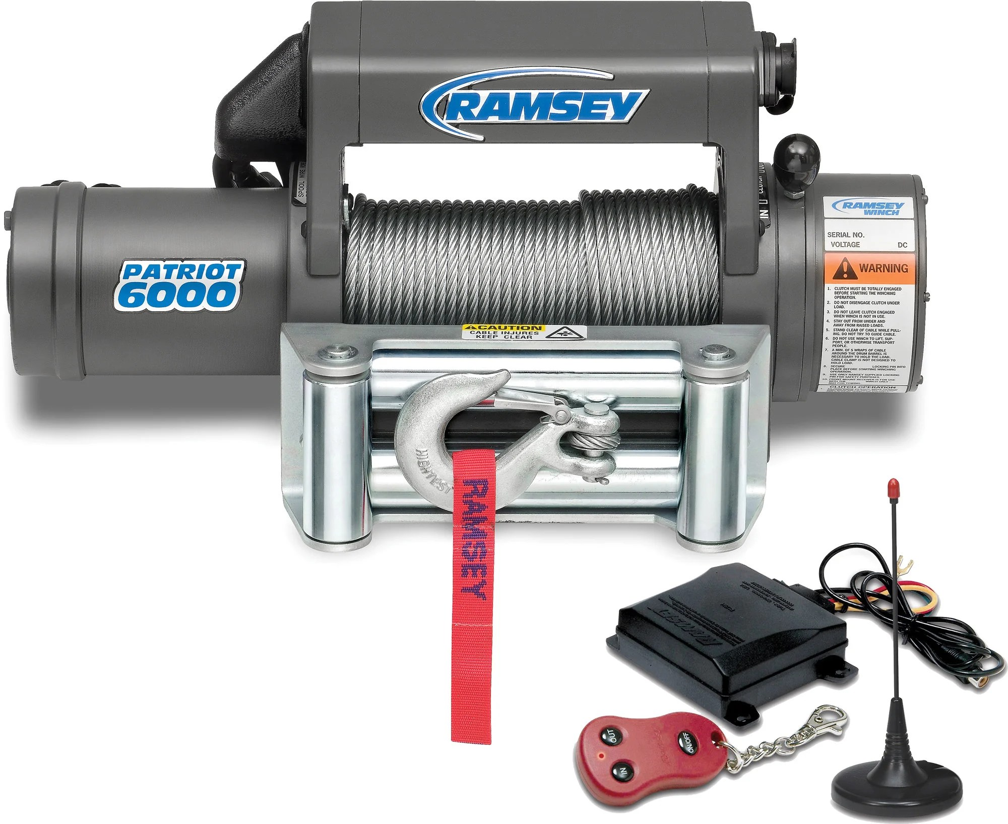hight resolution of ramsey winch exploded view