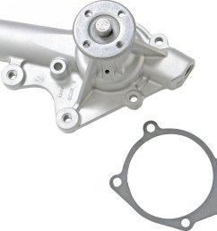 flowkooler 1745 flokooler water pump for 87 90 jeep wrangler yj with v belt on 2 5l i 4 or 4 2l i 6 engine quadratec [ 2000 x 1757 Pixel ]
