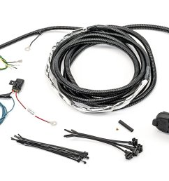 mopar 82212196ab 7 way round hitch wiring harness with 4 wire adapter for 11 13 jeep grand cherokee wk quadratec [ 2000 x 1335 Pixel ]