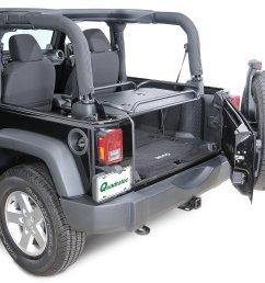 rampage products rear interior sport rack for 07 18 jeep wrangler jk 2 door [ 2000 x 1557 Pixel ]