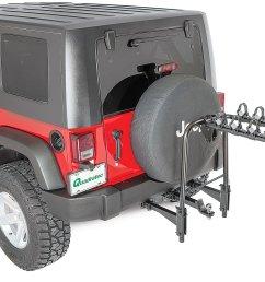 versahitch with bike rack bolt cable lock jeep logo hitch plug wiring kit for 07 18 jeep wrangler jk quadratec [ 2000 x 1377 Pixel ]