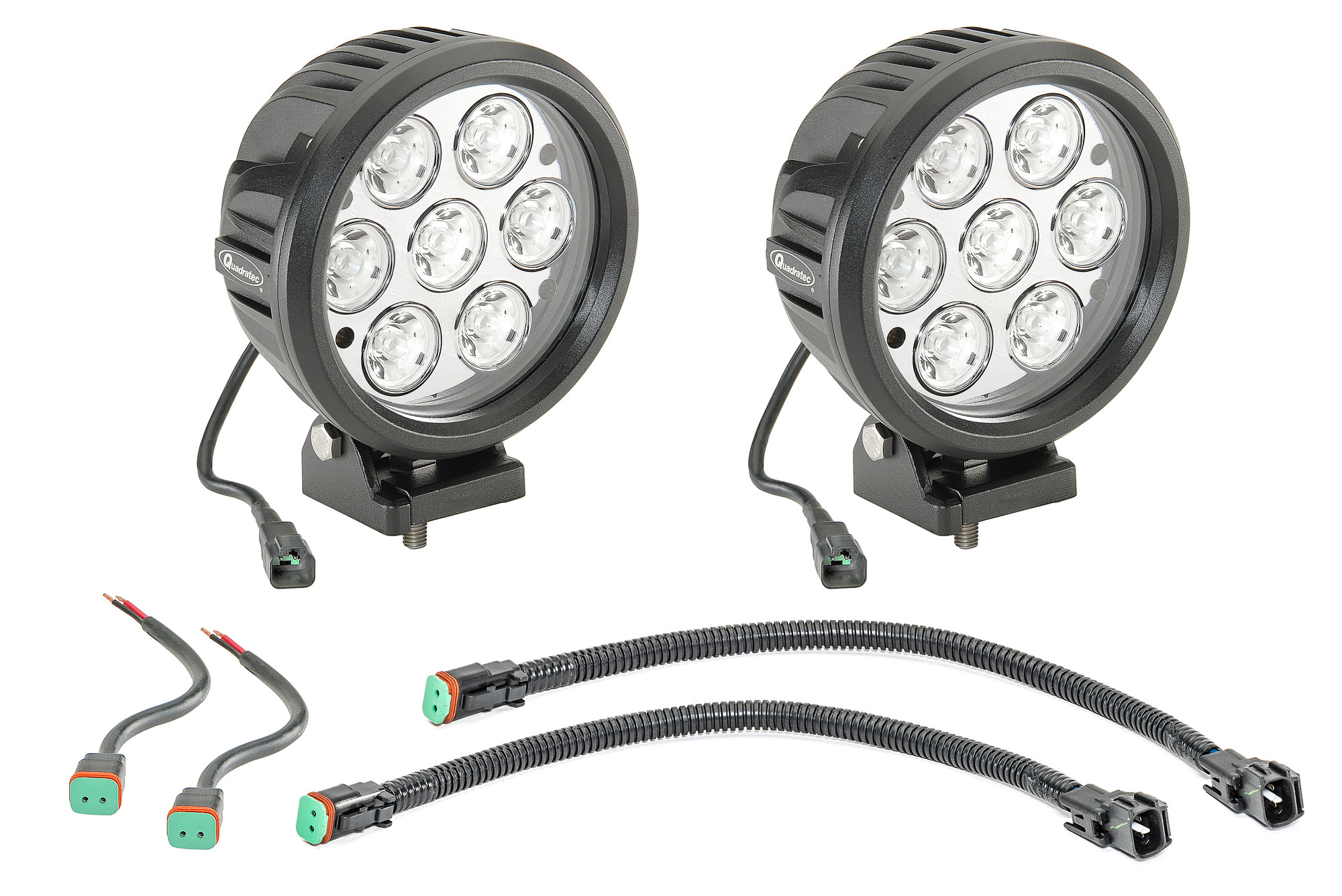 Quadratec Hi Performance 6 Round Led Light Kit For 97 06