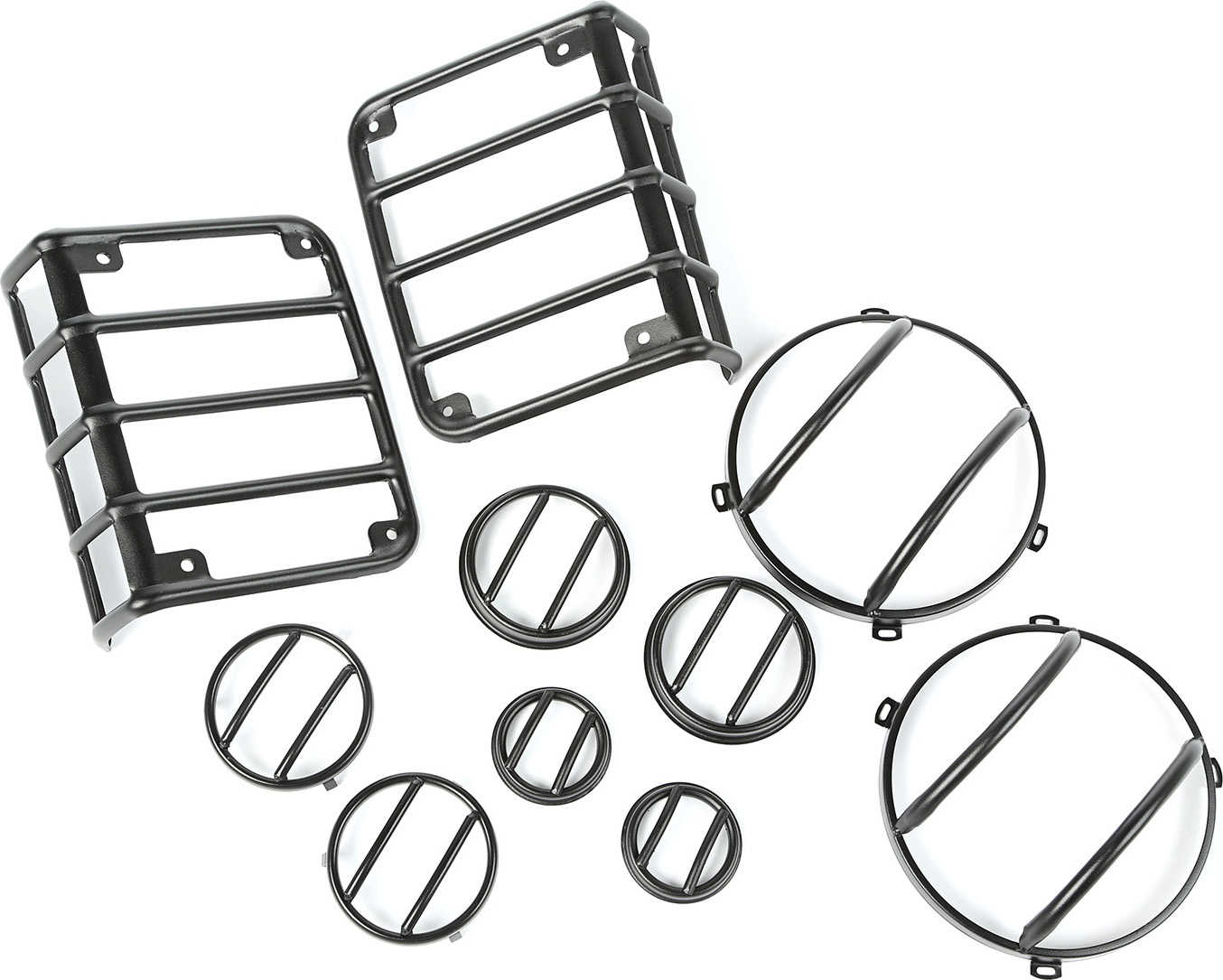 Rugged Ridge 10 Piece Euro Guard Light Kit for 07-17 Jeep