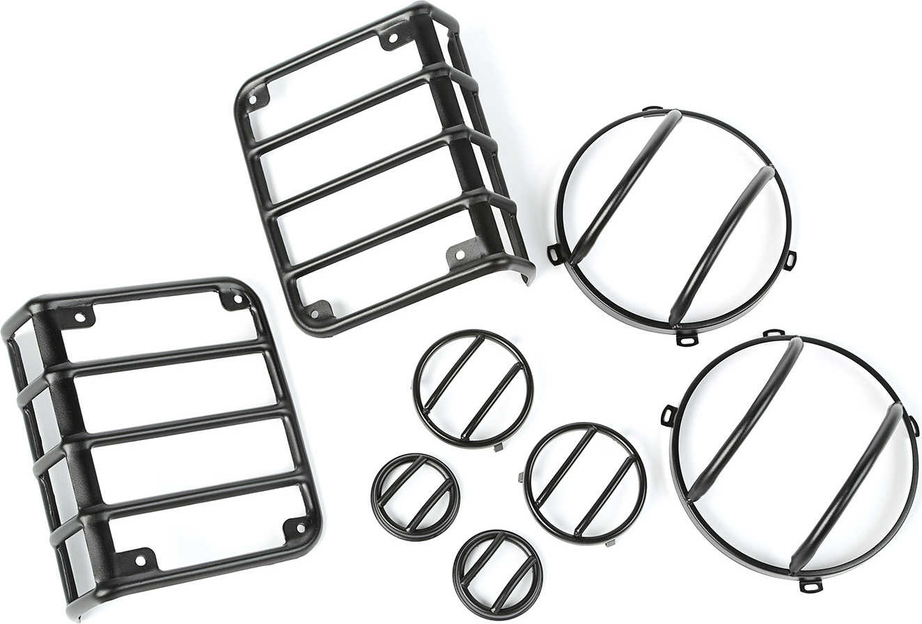 Rugged Ridge 8 Piece Euro Guard Light Kit for 07-16 Jeep