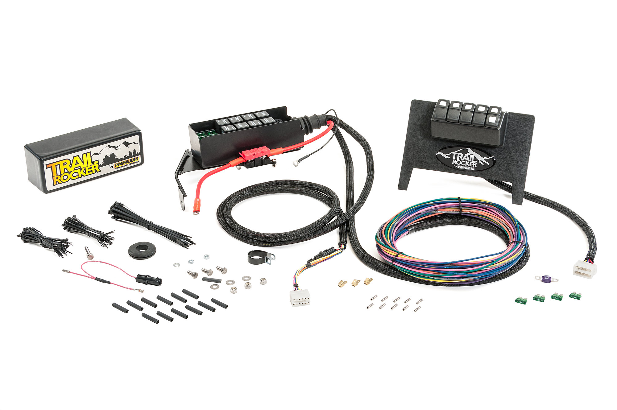 hight resolution of painless wiring 57001 trail rocker for 11 18 jeep wrangler jk with automatic transmission