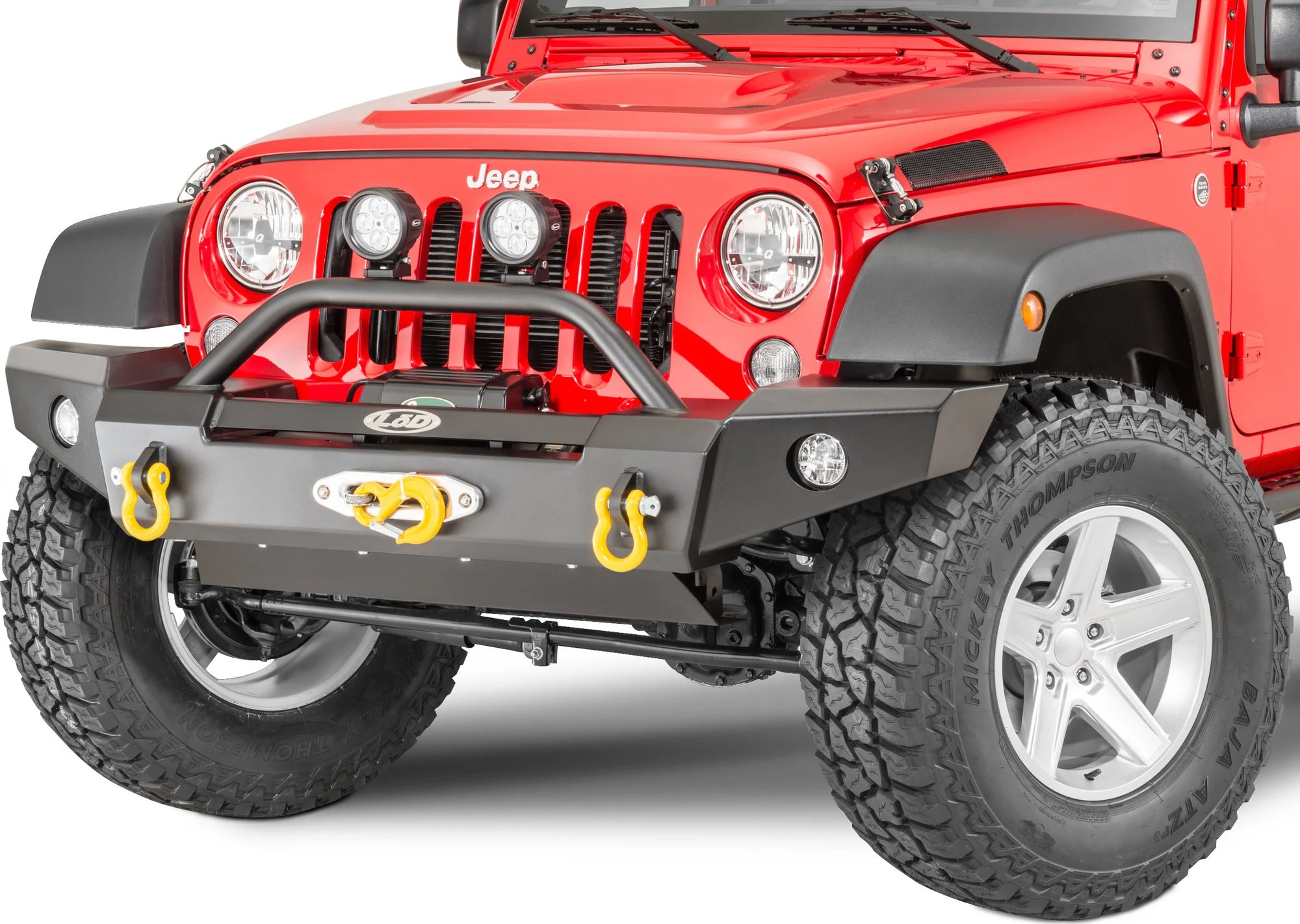 hight resolution of lod offroad signature series full width front winch bumper with bull bar for 07 18 jeep wrangler jk for warn zeon winch quadratec