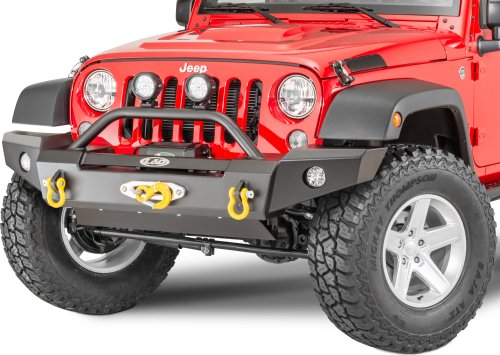 small resolution of lod offroad signature series full width front winch bumper with bull bar for 07 18 jeep wrangler jk for warn zeon winch quadratec