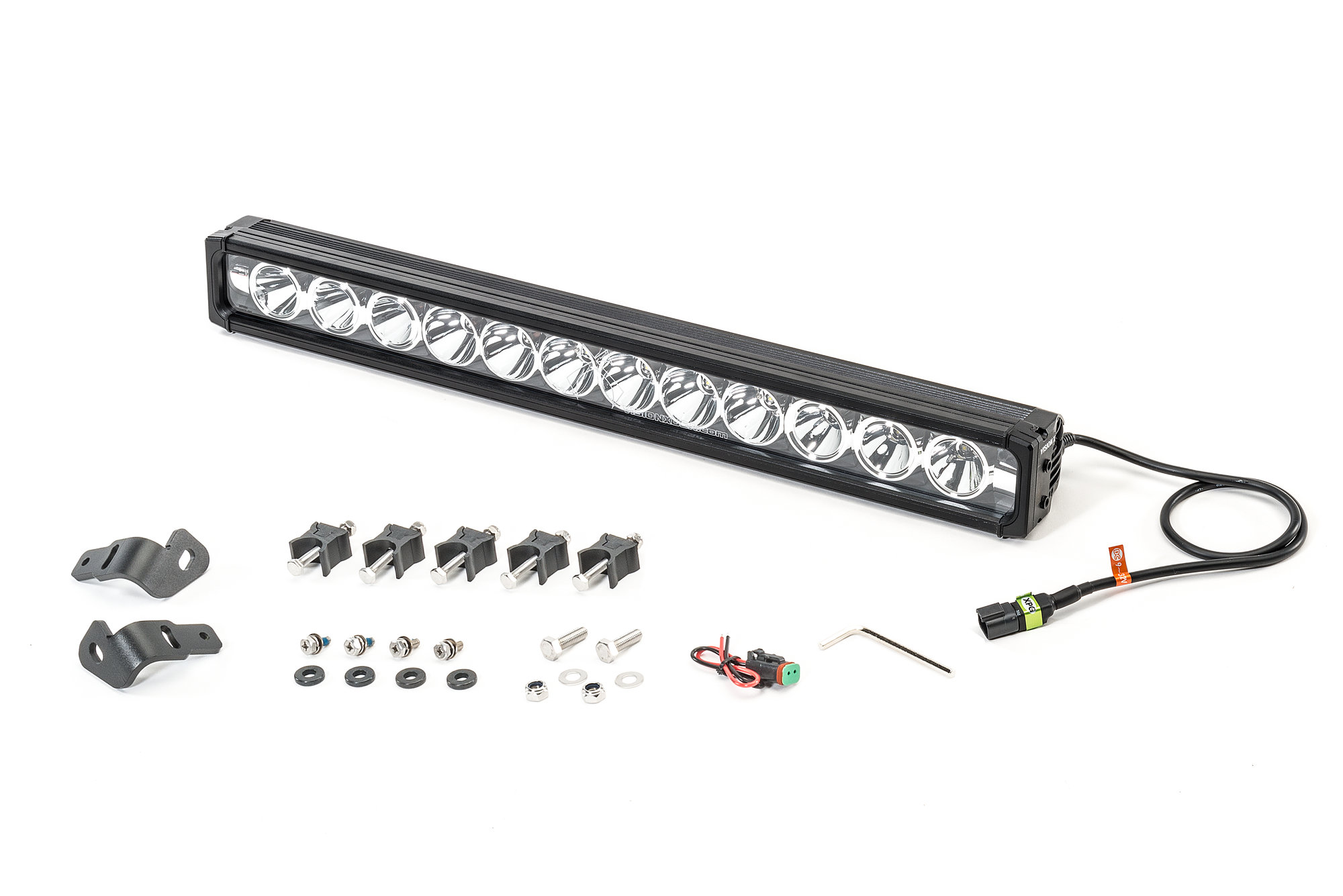 Vision X 24 Xmitter Prime Iris 12 Led Light Bar With Hood