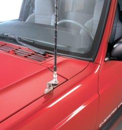 quadratec cb antenna mount cable kit for 84 04 jeep cherokee xj grand cherokee zj wj quadratec [ 1565 x 1566 Pixel ]