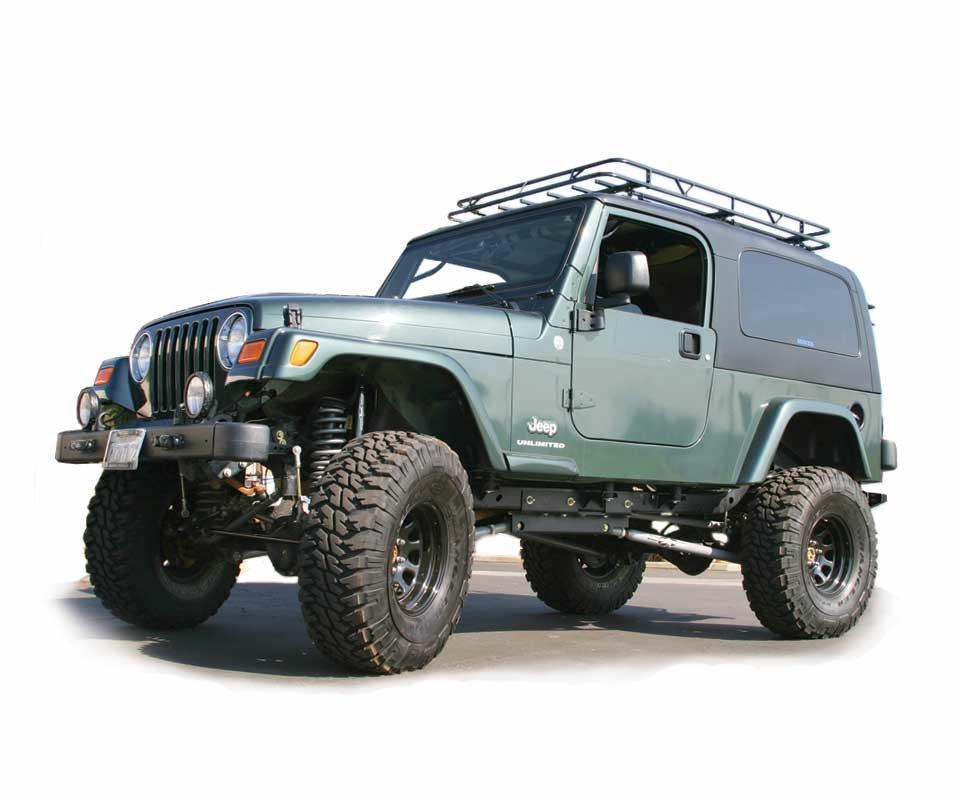 garvin 34061 sport series track rack for 76 06 jeep cj 7 wrangler yj tj with hard top