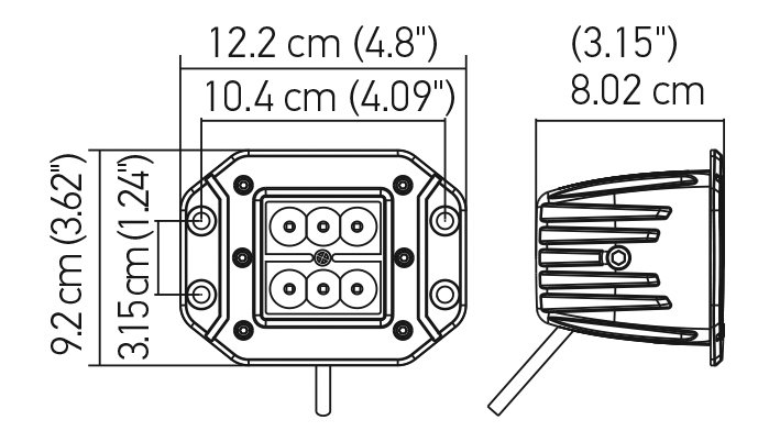 Hella 357204021 ValueFit Cube 6 LED Flood Light Flush
