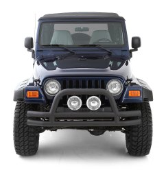 smittybilt front tubular bumper with hoop for 76 06 jeep cj wrangler yj tj unlimited quadratec [ 1868 x 2000 Pixel ]