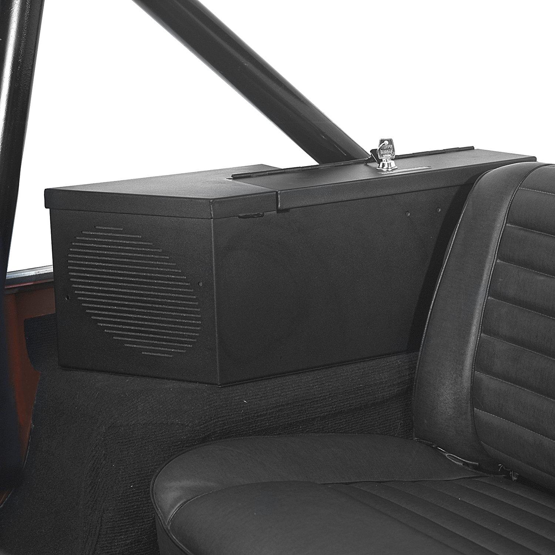 hight resolution of tuffy 015 01 security speaker safe in black for 80 91 jeep cj wrangler yj quadratec