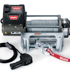 warn 26502 m8000 self recovery winch 12v dc 100 wire rope and roller fairlead quadratec [ 2000 x 1400 Pixel ]