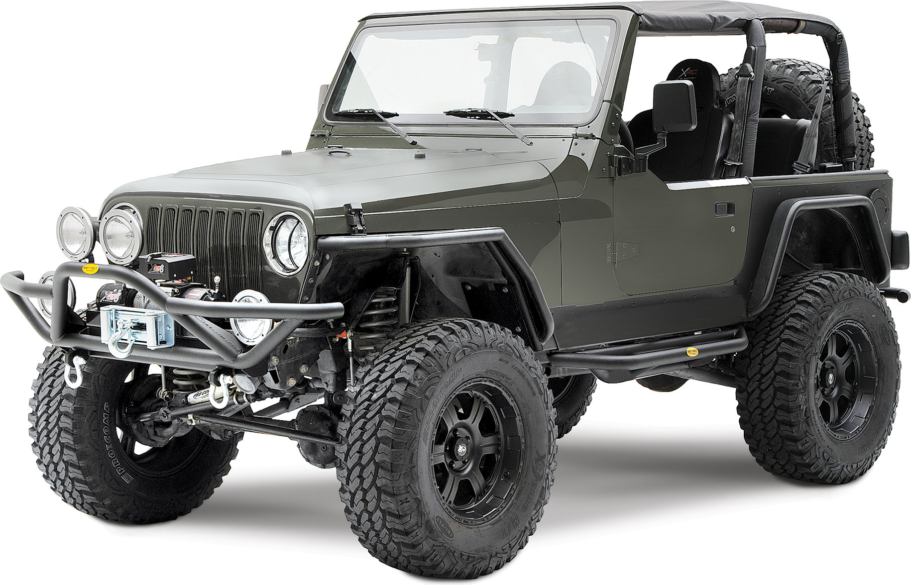 2007 jeep wrangler parts diagram fight or flight response smittybilt 76721 front src bumper in textured black for 87-06 jeep® yj, tj & unlimited ...
