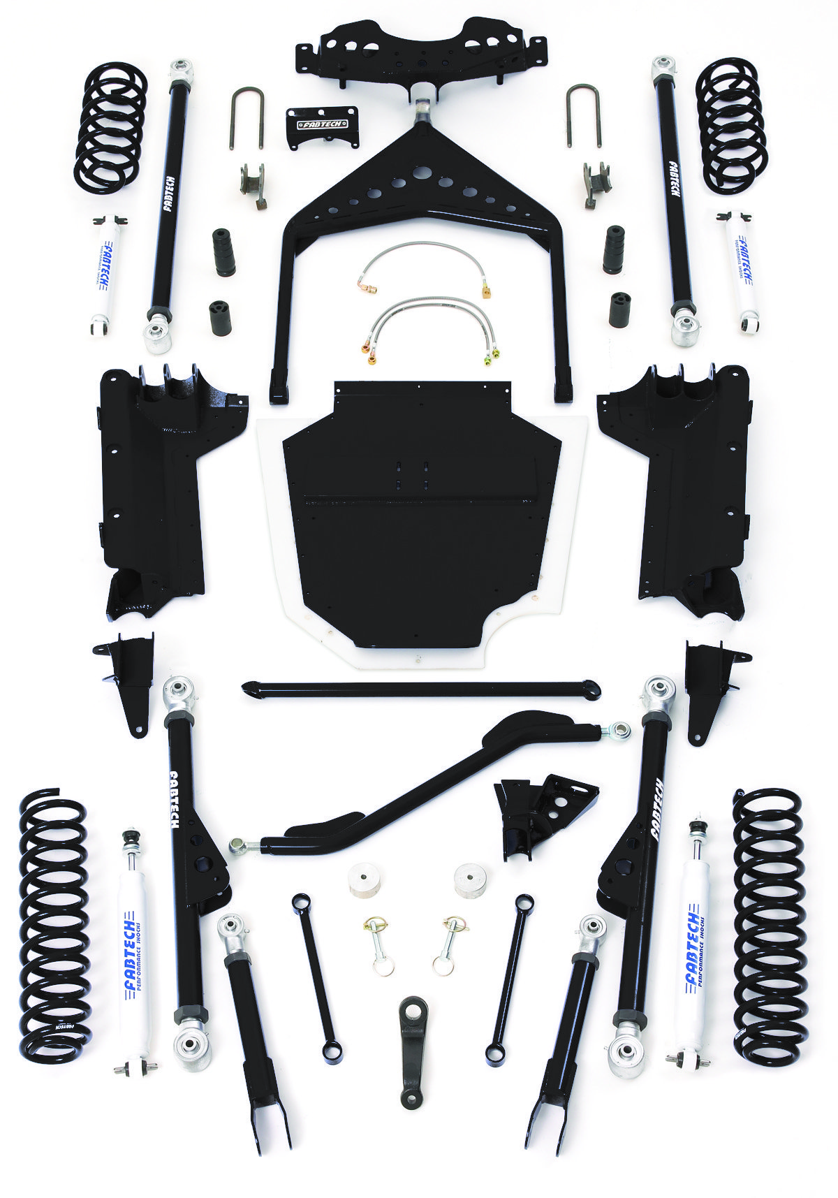 Fabtech 8 Crawler Kit For 03 06 Jeep Wrangler Tj With