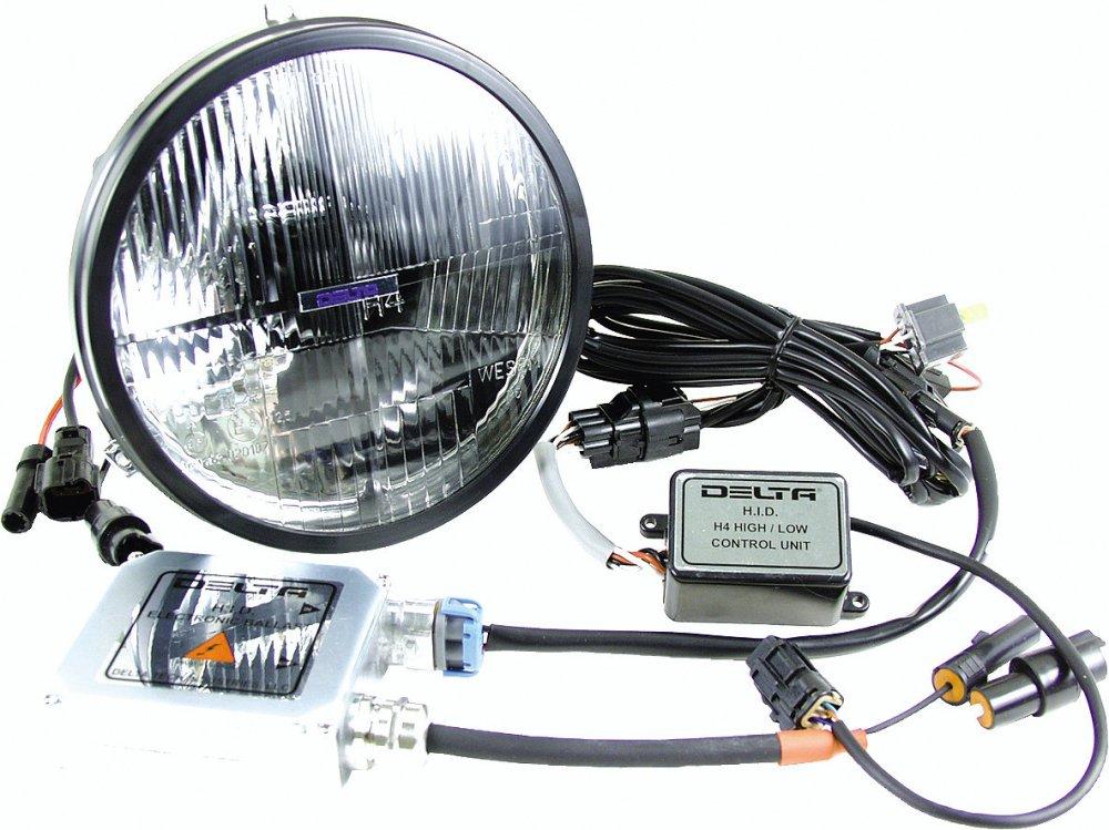 medium resolution of delta tech 01 1199 hid2 h4 hid 7 headlight kit for 97