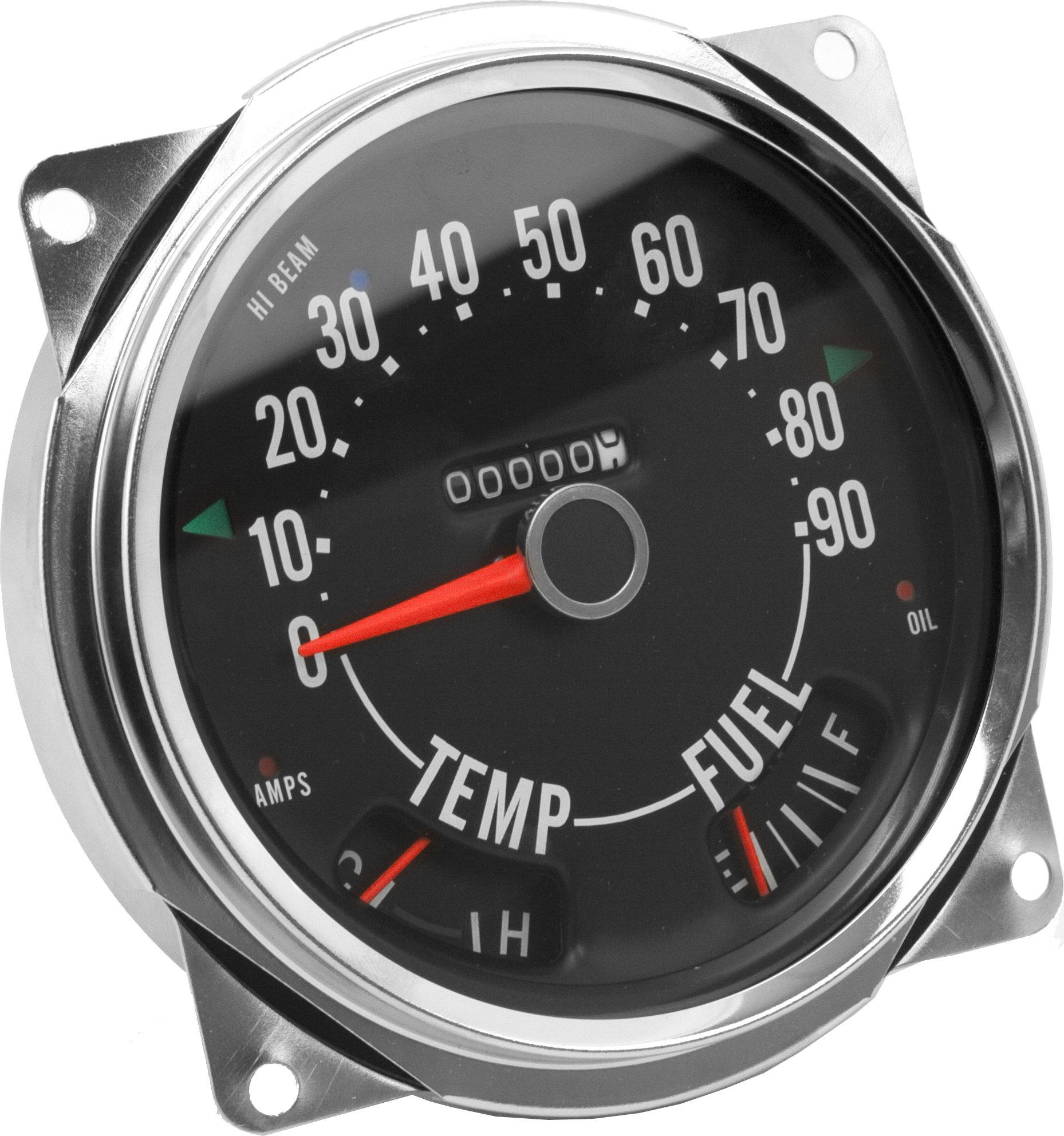 hight resolution of crown automotive 914845 speedometer cluster 0 90 mph for 55 79 jeep cj 5 cj 6 cj 7 quadratec