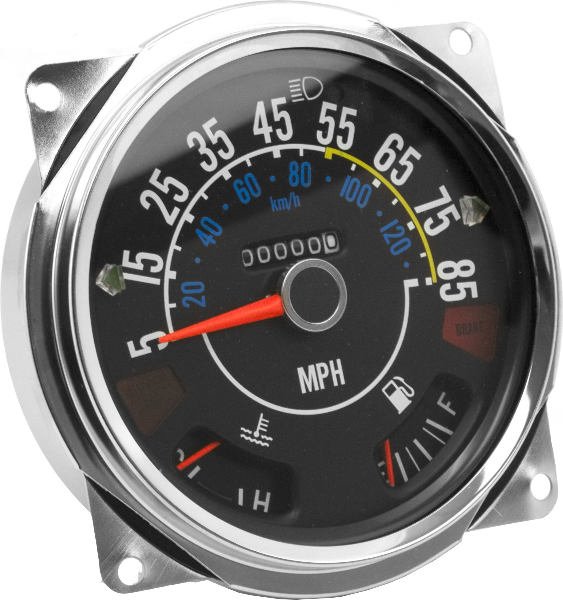 hight resolution of crown automotive j5761110 speedometer cluster 5 85 mph for 80 86 jeep