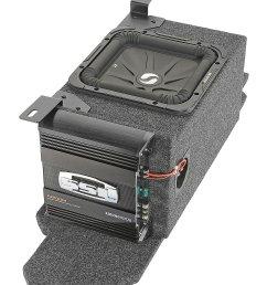 kicker custom rear subwoofer kit with 10 kicker solo baric l7 subwoofer for 03 06 jeep wrangler tj quadratec [ 1458 x 2000 Pixel ]