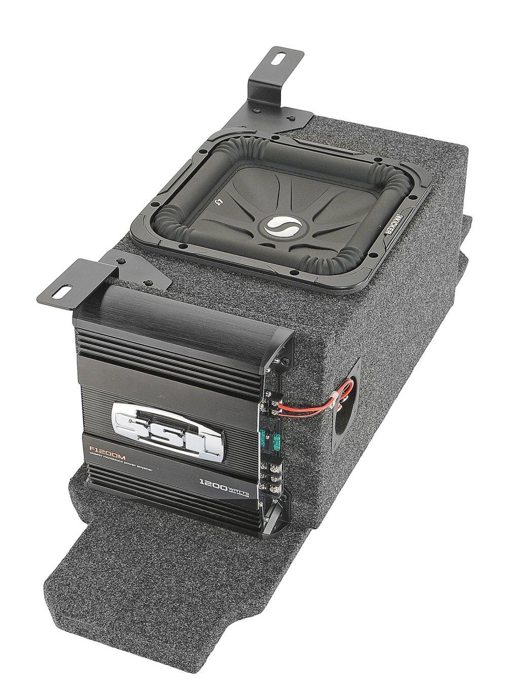 medium resolution of kicker custom rear subwoofer kit with 10 kicker solo baric l7 subwoofer for 03 06 jeep wrangler tj quadratec