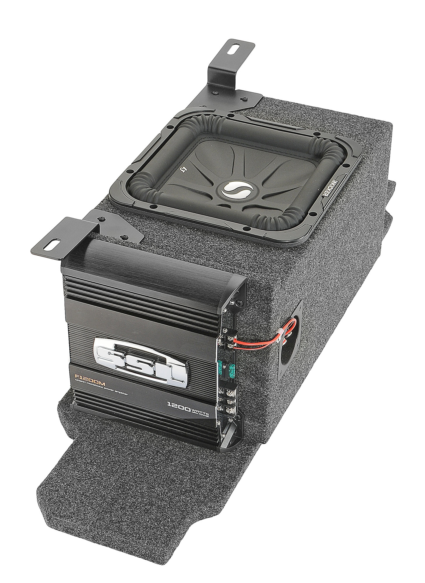 hight resolution of kicker custom rear subwoofer kit with 10 kicker solo baric l7 subwoofer for 03 06 jeep wrangler tj quadratec