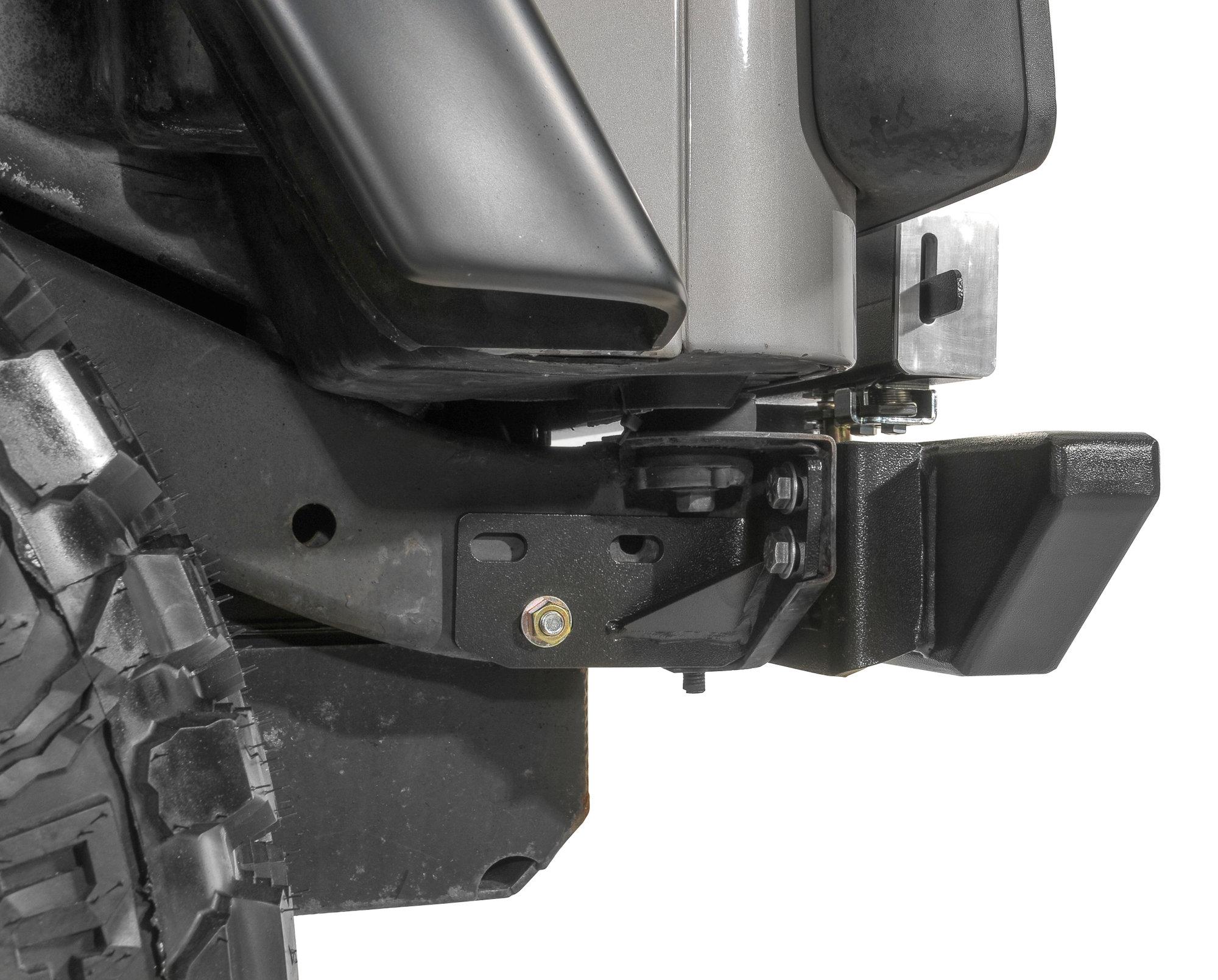 hight resolution of rock hard 4x4 rh2001 cj rear bumper heavy duty frame kit for 76 86 jeep cj quadratec