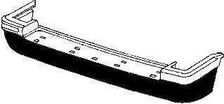 Crown Automotive 4713456 Rear Bumper Fascia in Black for