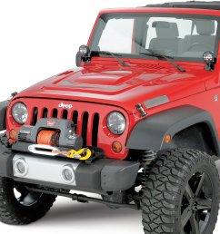 warn winch mounting plate for 07 18 jeep wrangler jk with oe bumper quadratec [ 1419 x 1253 Pixel ]