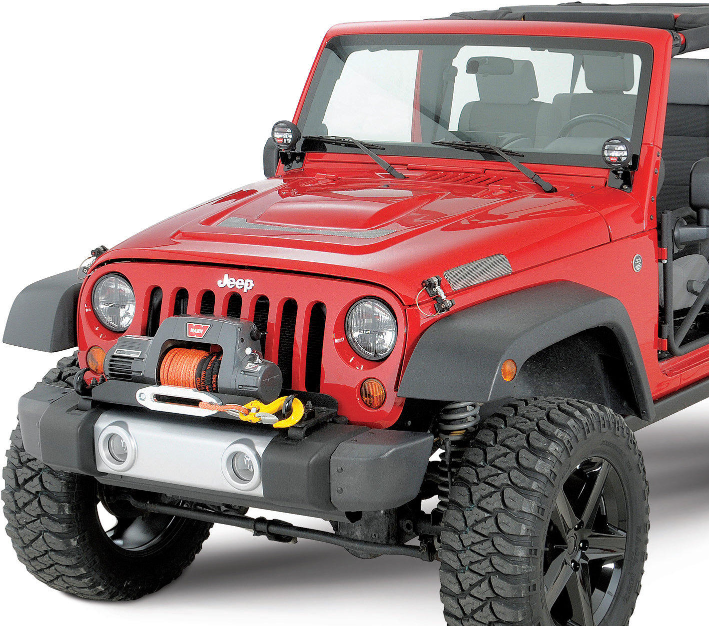 hight resolution of warn winch mounting plate for 07 18 jeep wrangler jk with oe bumper quadratec
