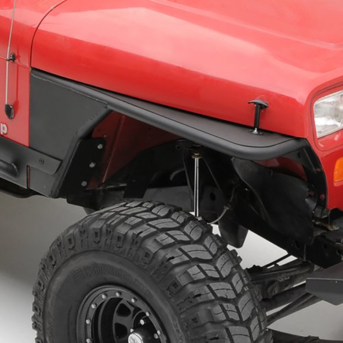 small resolution of smittybilt front xrc tube fenders without flare in textured black for 76 06 jeep cj 7 wrangler yj tj unlimited quadratec