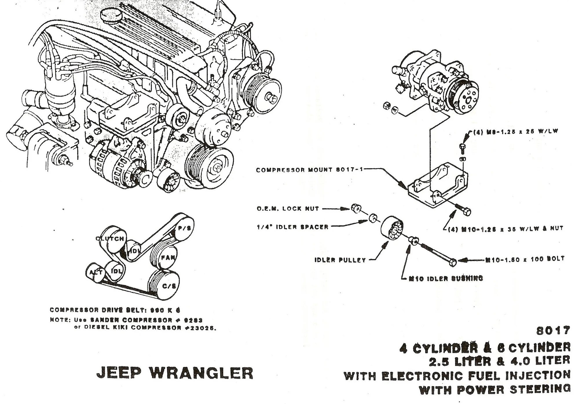 [WRG-2891] 87 Jeep 4 0l Engine Belt Diagram