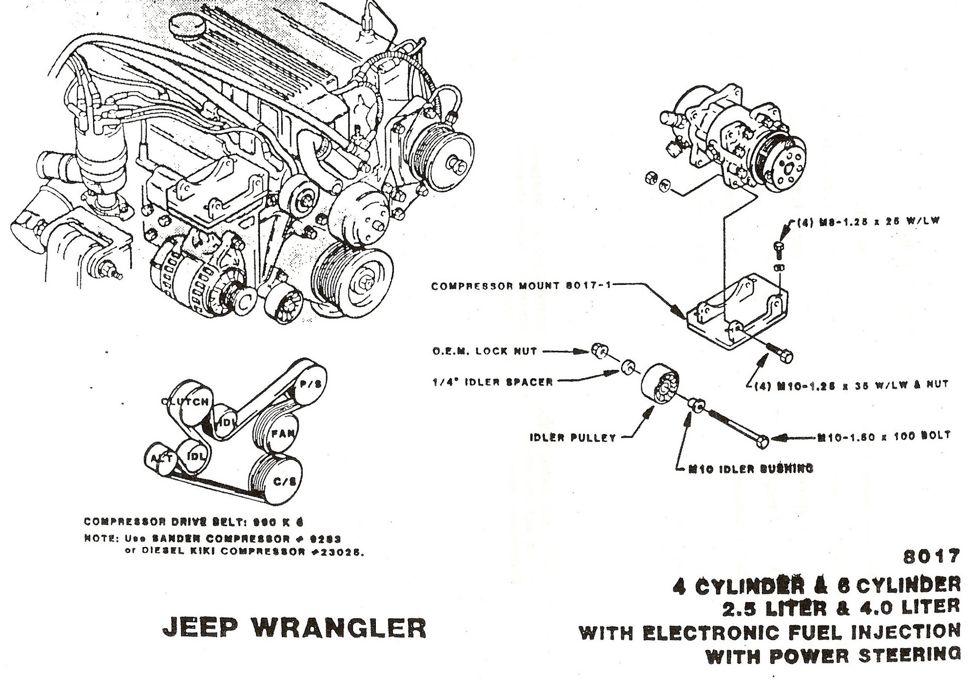 [WRG-5568] 87 Jeep 4 0l Engine Belt Diagram