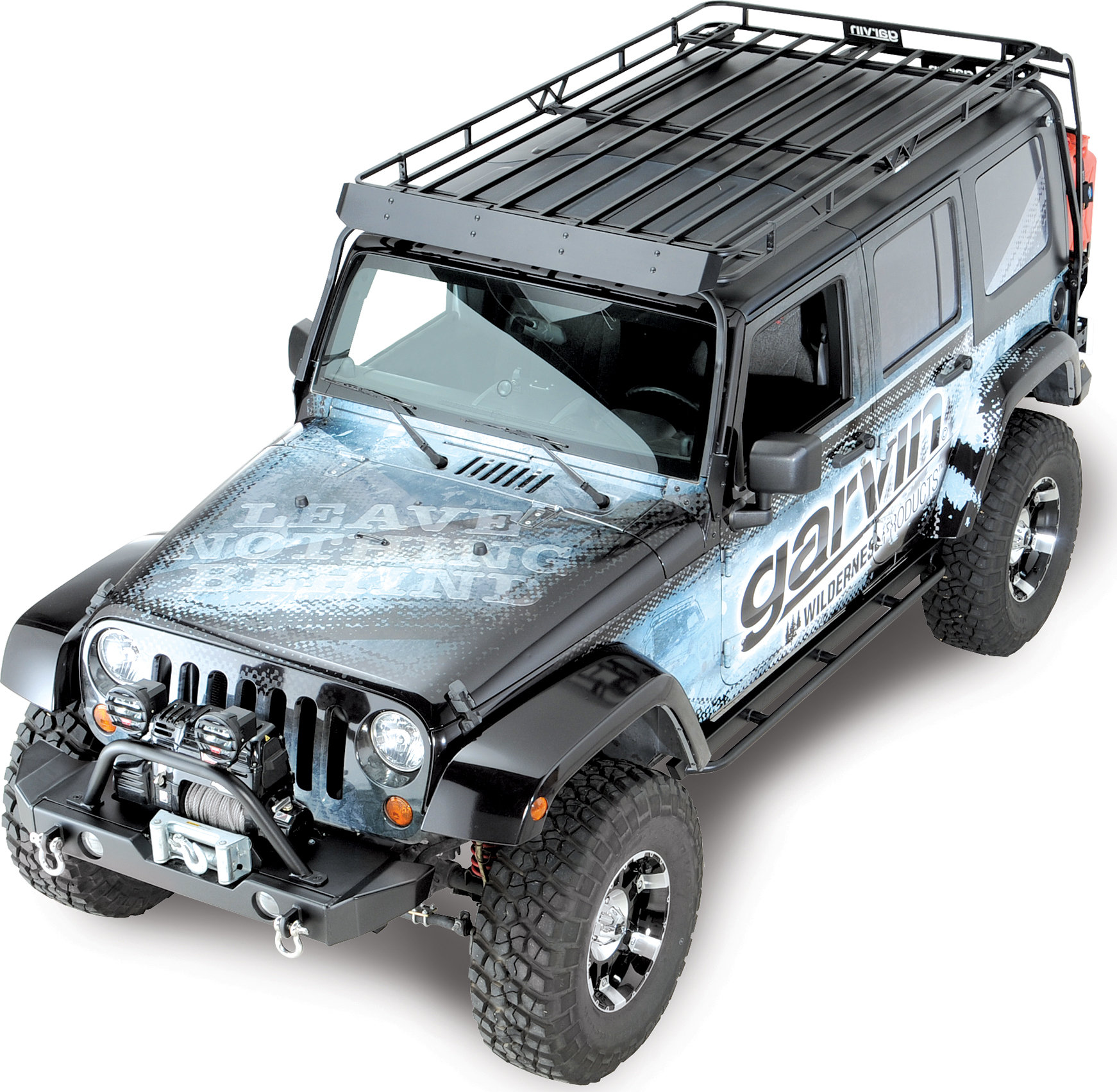 garvin 44074 wilderness expedition rack for 07 18 jeep wrangler unlimited jk 4 door