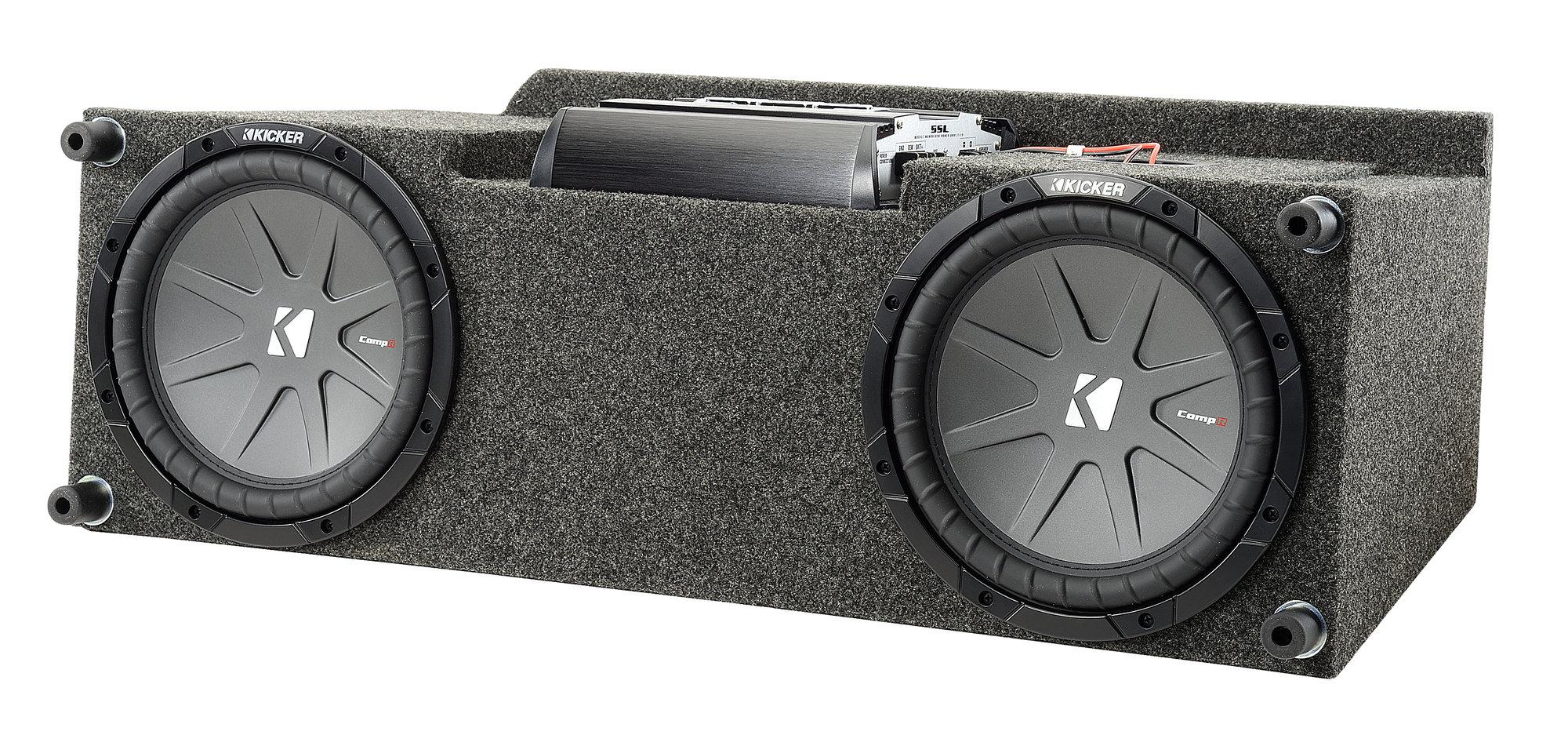 Quadratec Custom Rear Dual Subwoofer Kit with 10 Kicker