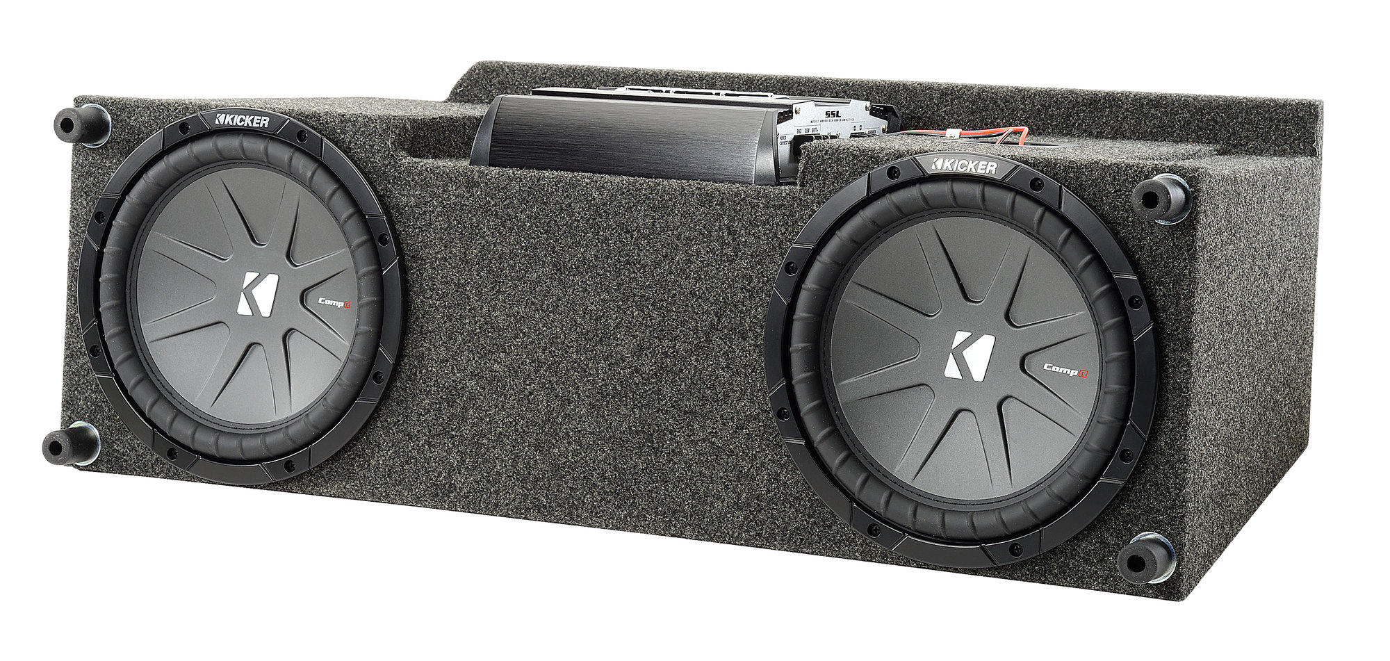 hight resolution of quadratec custom rear dual subwoofer kit with 10 kicker compvr 1999 jeep wrangler heater 2003 jeep wrangler subwoofer wiring harness