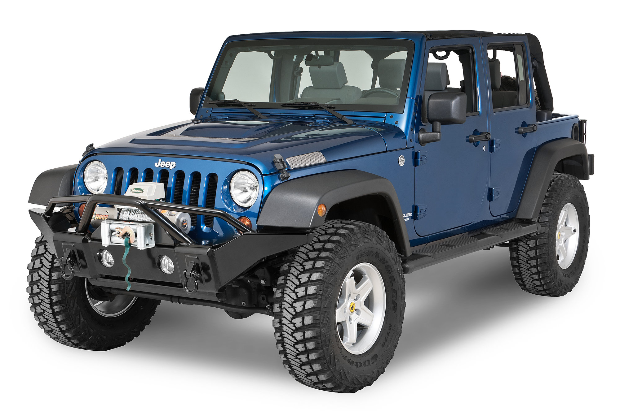 Rampage Products Front Recovery Bumper For 07 18 Jeep