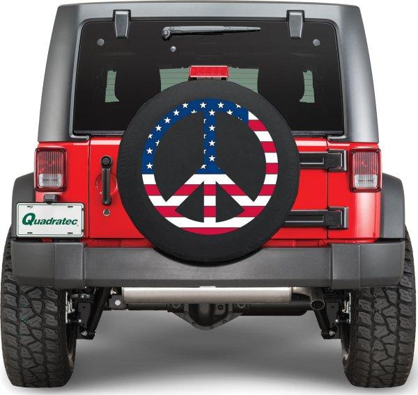 Quadratec Usa Peace Sign Tire Cover