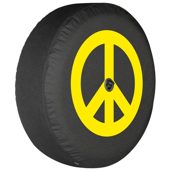 Boomerang Enterprises Peace Sign Logo Tire Cover 18-19 Jeep Wrangler Jl Quadratec
