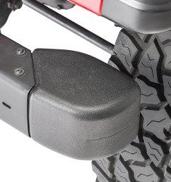 mopar front bumper guard crown automotive end cap kit for 98 06 jeep wrangler tj quadratec [ 2000 x 1335 Pixel ]