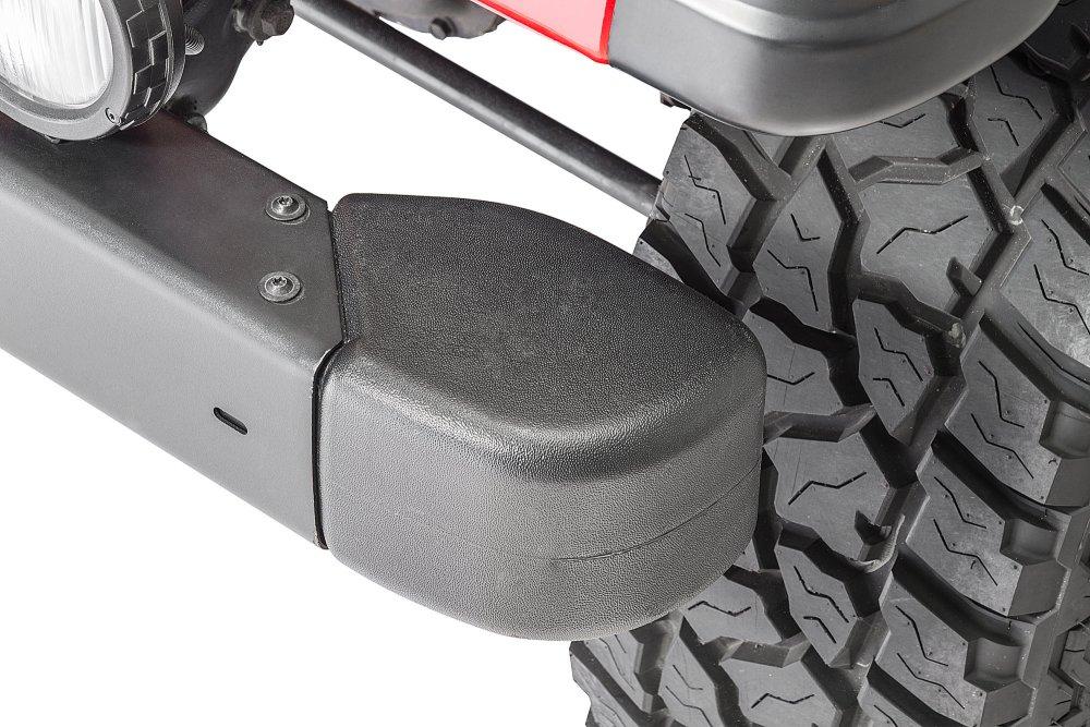 medium resolution of mopar front bumper guard crown automotive end cap kit for 98 06 jeep wrangler tj quadratec