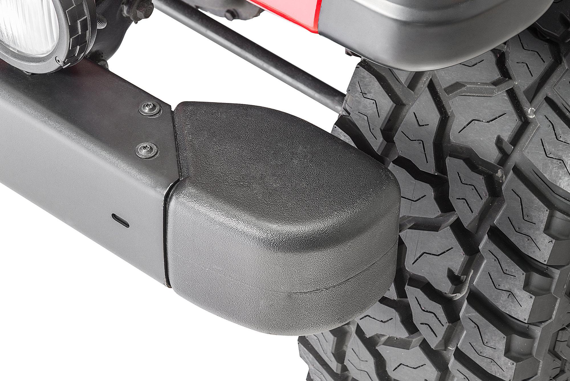 hight resolution of mopar front bumper guard crown automotive end cap kit for 98 06 jeep wrangler tj quadratec