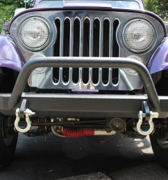 fishbone offroad fb22080 piranha front bumper for 76 95 jeep cj wrangler yj quadratec [ 2000 x 1333 Pixel ]