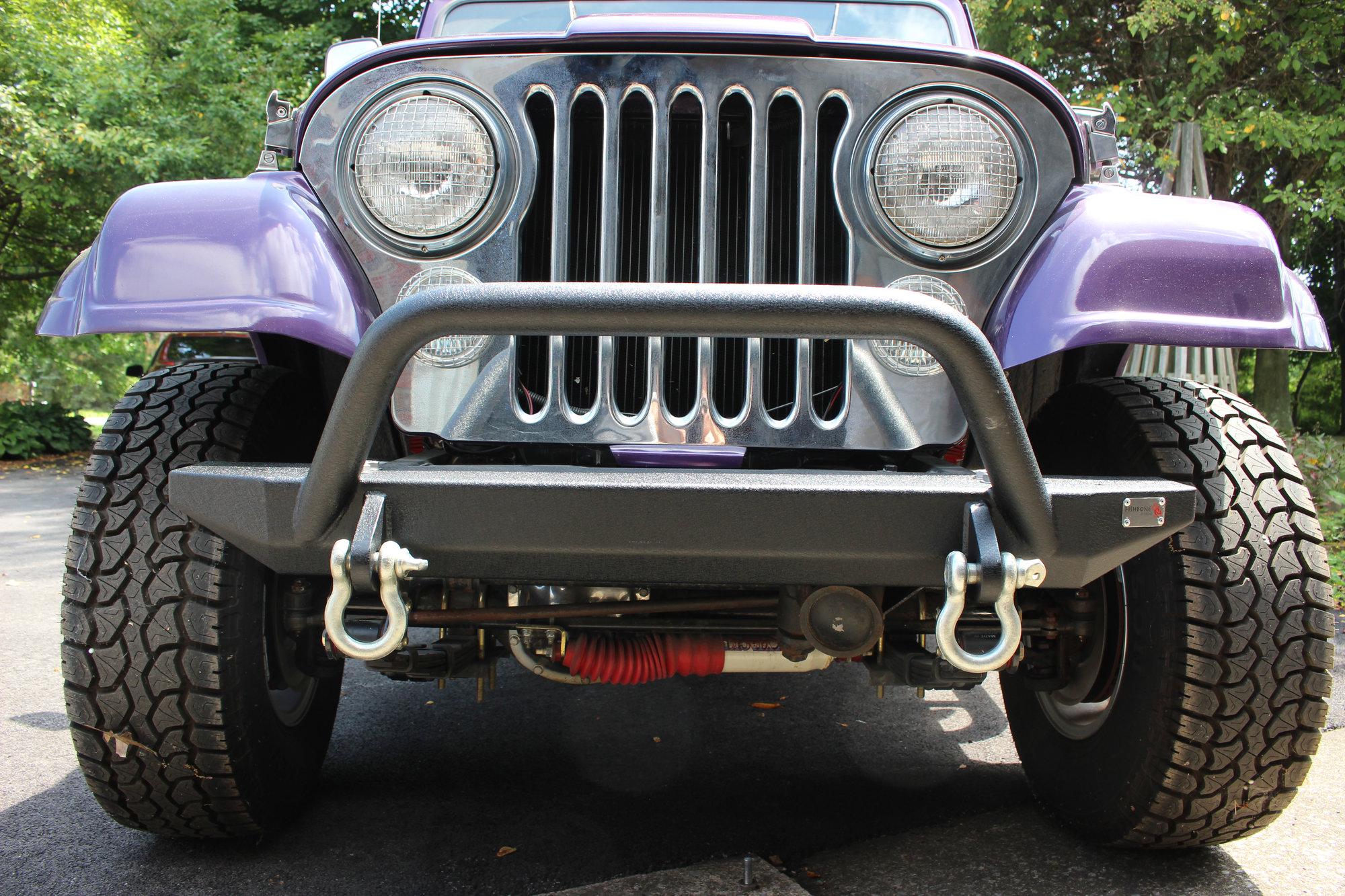 hight resolution of fishbone offroad fb22080 piranha front bumper for 76 95 jeep cj wrangler yj quadratec