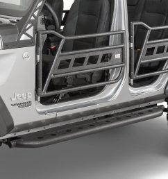fishbone offroad fb24086 front and rear tube doors for 18 19 jeep wrangler jl 4 door unlimited quadratec [ 2000 x 1335 Pixel ]
