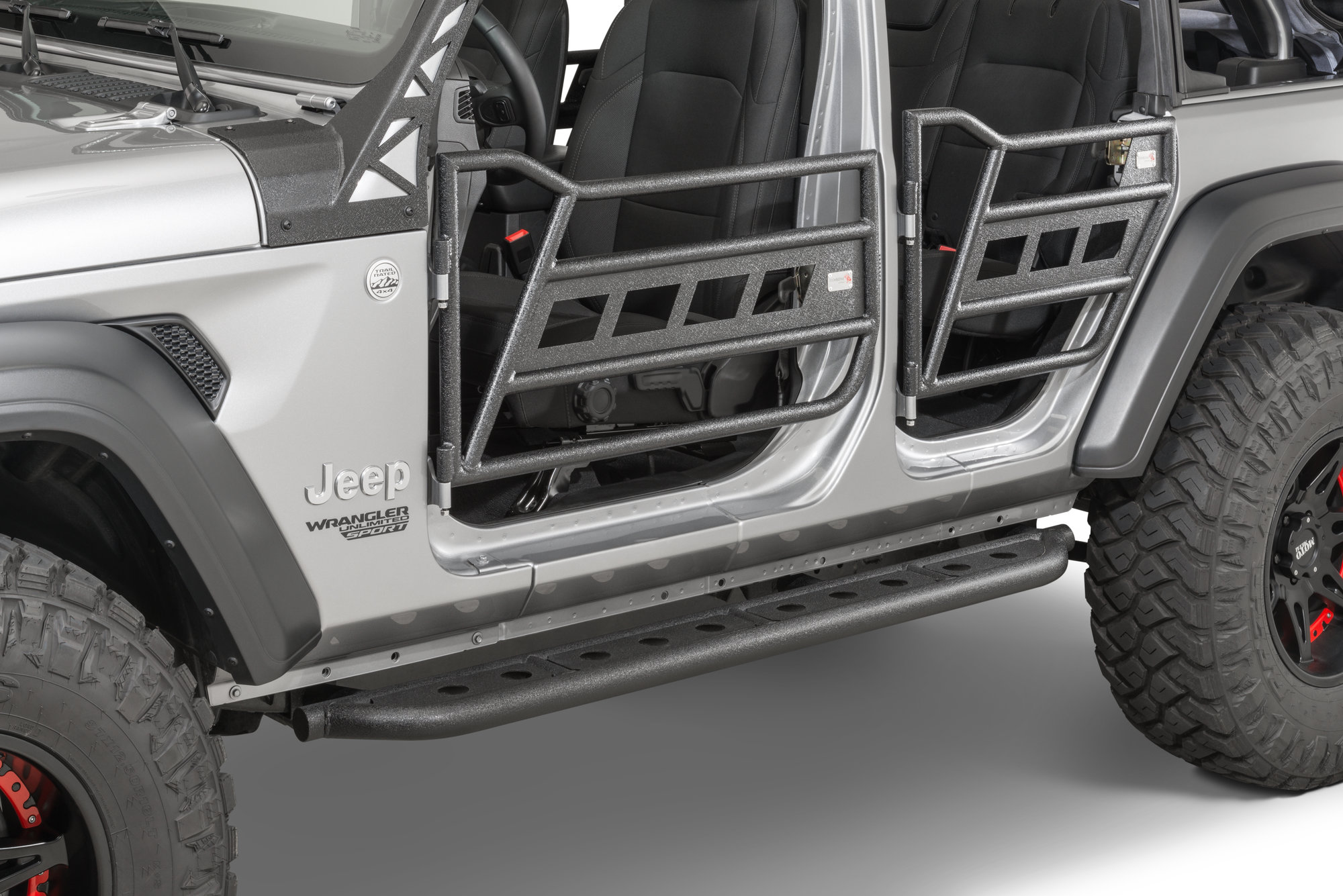 hight resolution of fishbone offroad fb24086 front and rear tube doors for 18 19 jeep wrangler jl 4 door unlimited quadratec
