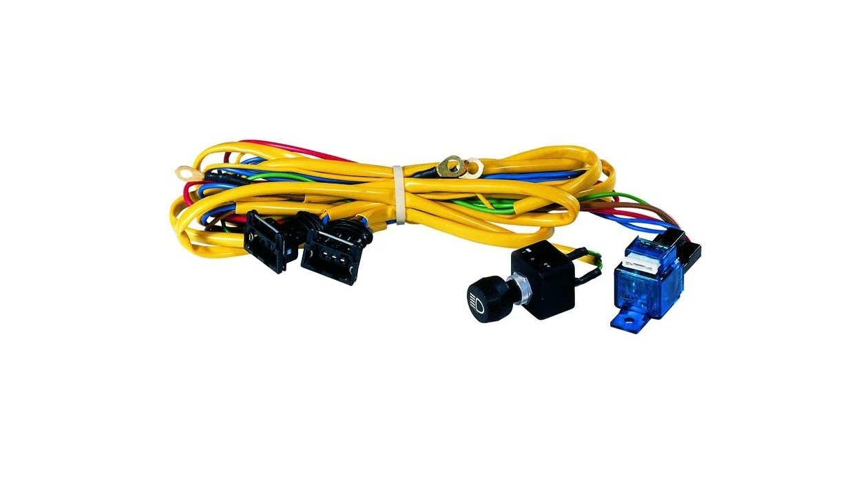 hight resolution of hella 148541001 rallye 4000 series wiring harness for 2 lamps quadratec