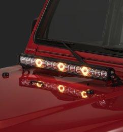 quadratec j3 led 28 light bar with hood mount brackets and wiring for 97 06 jeep wrangler tj unlimited quadratec [ 2000 x 1335 Pixel ]